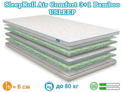Матрас SleepRoll Air Comfort 3+1 Bamboo