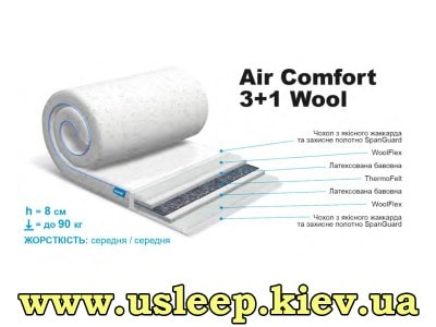 Матрас SleepRoll Air Comfort 3+1 Wool